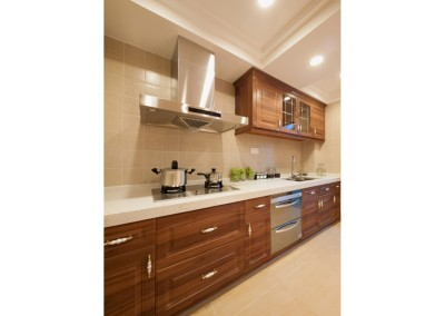domestic kitchen with luxury cabinet
