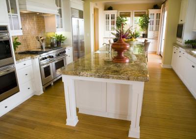 Modern Kitchen with a hardwood floor.