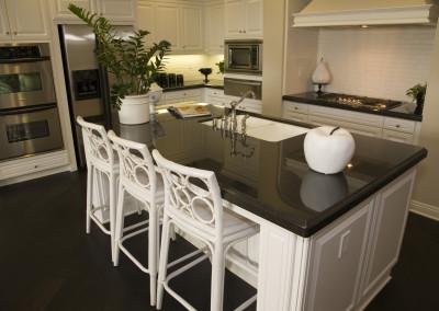 Luxury kitchen with a modern island.